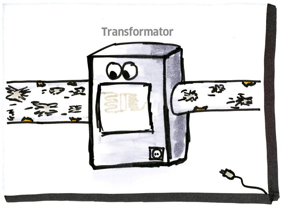 Skizze: Transformator-Entwurf