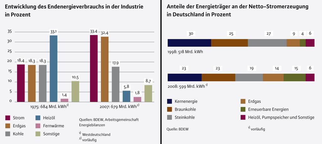 Energieverbrauch und Stromerzeugung BDEW