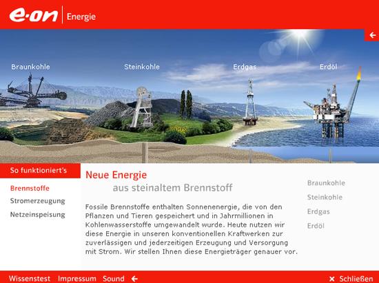 Infografik zu klassischen Kraftwerken © E-ON (Screenshot von 2010)