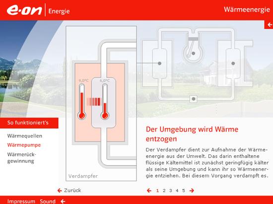 Infografik zu Wärmeenergie © E-ON (Screenshot von 2010)