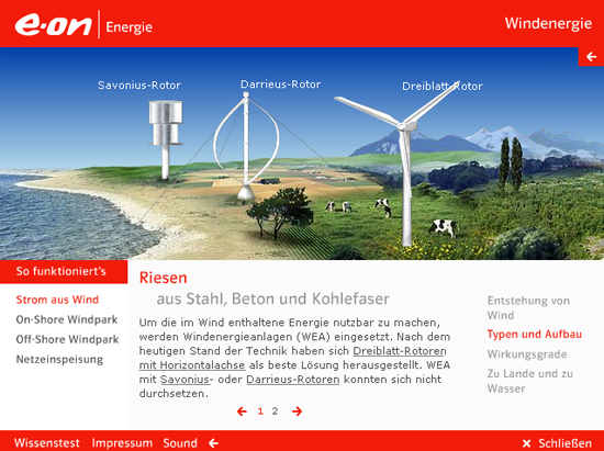 Infografik Windkraft © E-ON (Screenshot von 2010)